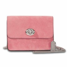 COACH Bowery Grain Leather Crossbody(Glitter Rose) - $125.91
