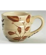 Large Mugs Shadowwood by Home Trends Set of 2 Coffee/Tea Mugs Floral Leaves - $18.69