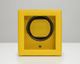 WOLF Single Cub Watch Winder with Cover - Yellow 461192 Battery or AC Power - $189.00