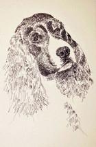 English Springer Spaniel Dog Art Print #56 Kline draws your dogs name free BLACK - $49.45