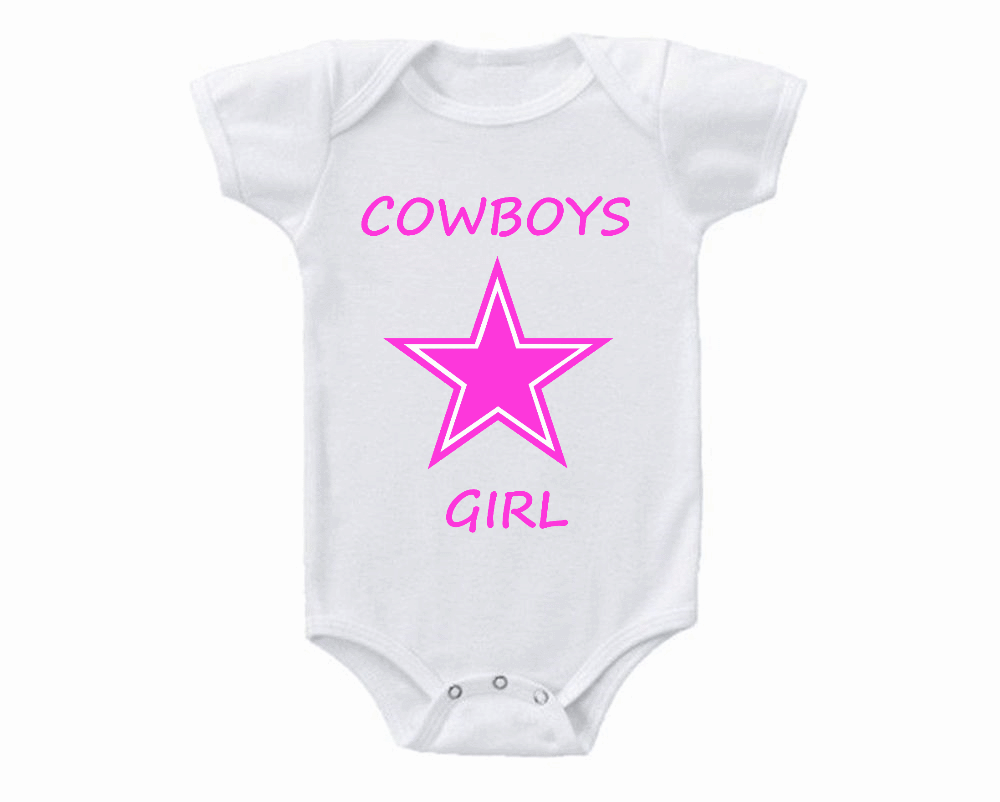 Cowboys Girl Baby Onesie or Tee Shirt Dallas Pink for sale USA bde00d0ec