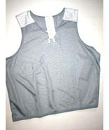 New NWT Boys XL Under Armour Reversible Shirt Tank Top Dark Gray White A... - $11.60