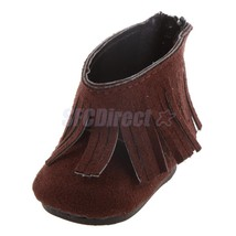 """Brown Shoes w/ Back Zipper & Tassel for 18"""" Ame... - $3.87"""
