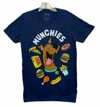 Scooby Doo Men's Scooby Snacks Munchies Licensed T-Shirt Navy Blue New - $16.99