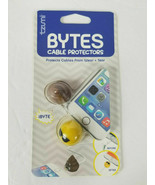 3 THREE packs tzumi Bytes cable protectors smiley face sunglasses + POOP... - $13.72