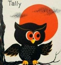 Halloween Tally Game Card Owl Full Moon On Tree Original NOS Vintage Fol... - $32.22