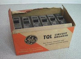 TQL1150 Box of 6 GE 50 Amp Molded Case Plug In Circuit Breakers New Old ... - $12.20