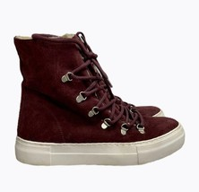 JC Play Jeffrey Campbell Cimone Sneakers Platform Boots Lace Up Leather Fur 8 - $36.79