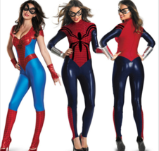 Women Halloween Cosplay Sexy Hero Costume Spider-man Short Sleeve Fancy ... - $15.99