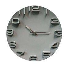[Gray] 14 Inch Modern Wall Clock Decorative Silent Non-Ticking Wall Clock - $51.85