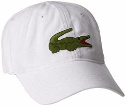 Lacoste Men's Gabardine Embroidered Cotton Big Croc Logo Adjustable Hat Cap - $38.21
