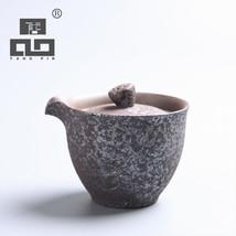 TANGPIN rust-glazed ceramic tea pot kung fu tea set - $40.95