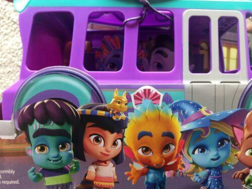 Netflix Playschool Super Monsters GrrBus Monster Bus Toy Lights Sounds & Music  image 3