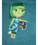 Inside Out DISGUST 11 inch Plush Toy Disney Store Pixar Movie. Brand New. - $18.36