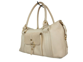 Authentic CELINE Beige Leather Shoulder Bag CS17491L - $159.00