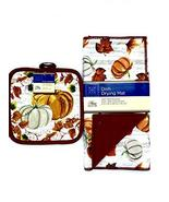 Fall Theme Dish Drying Mat and Potholder Set - $9.89