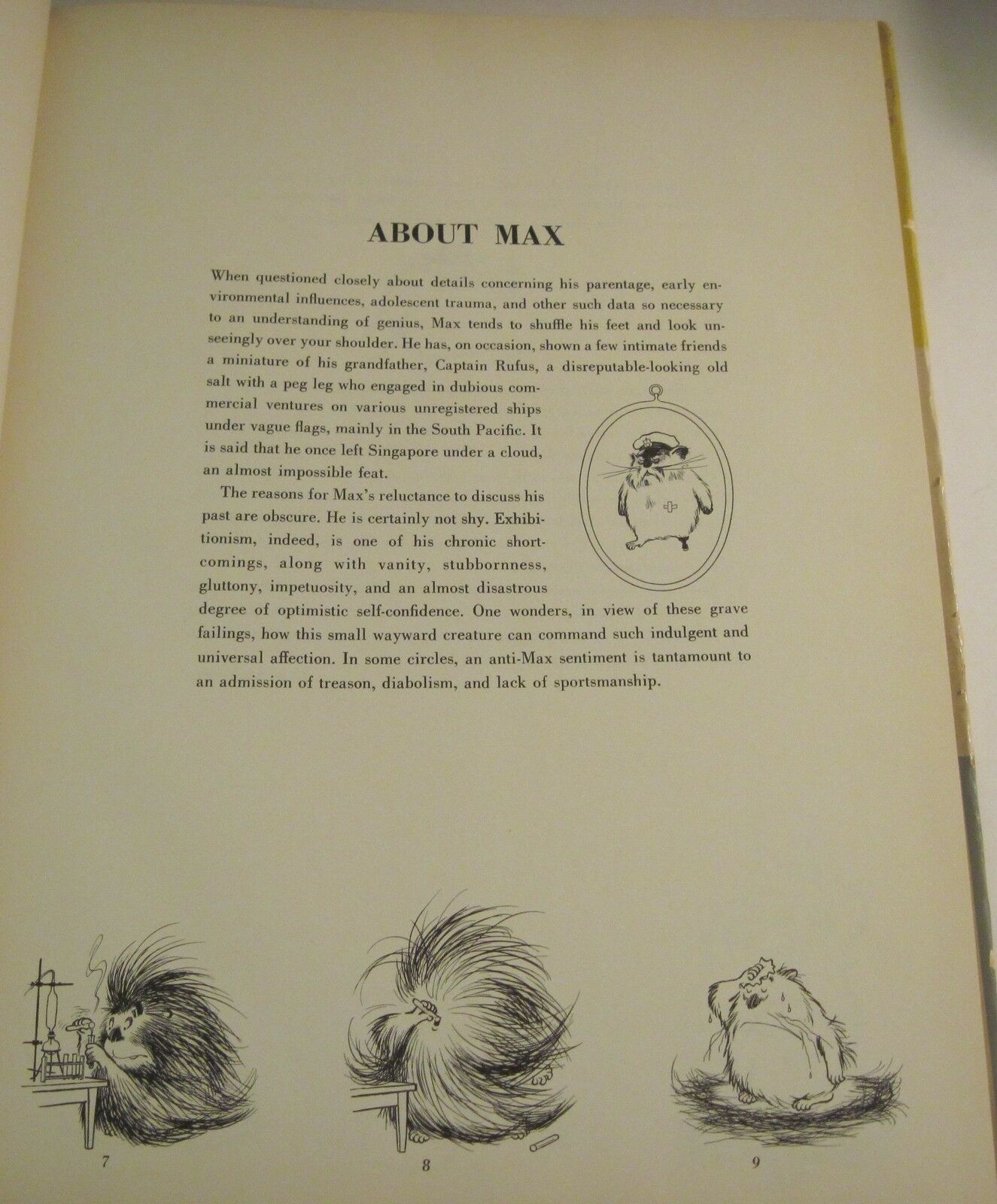 Max by Giovannetti 1954 Wordless Picture Book Vintage Hardcover Dustjacket
