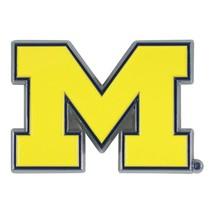 Fanmats NCAA Michigan Wolverines Diecast 3D Color Emblem Car Truck 2-4 Day Del. - $11.14