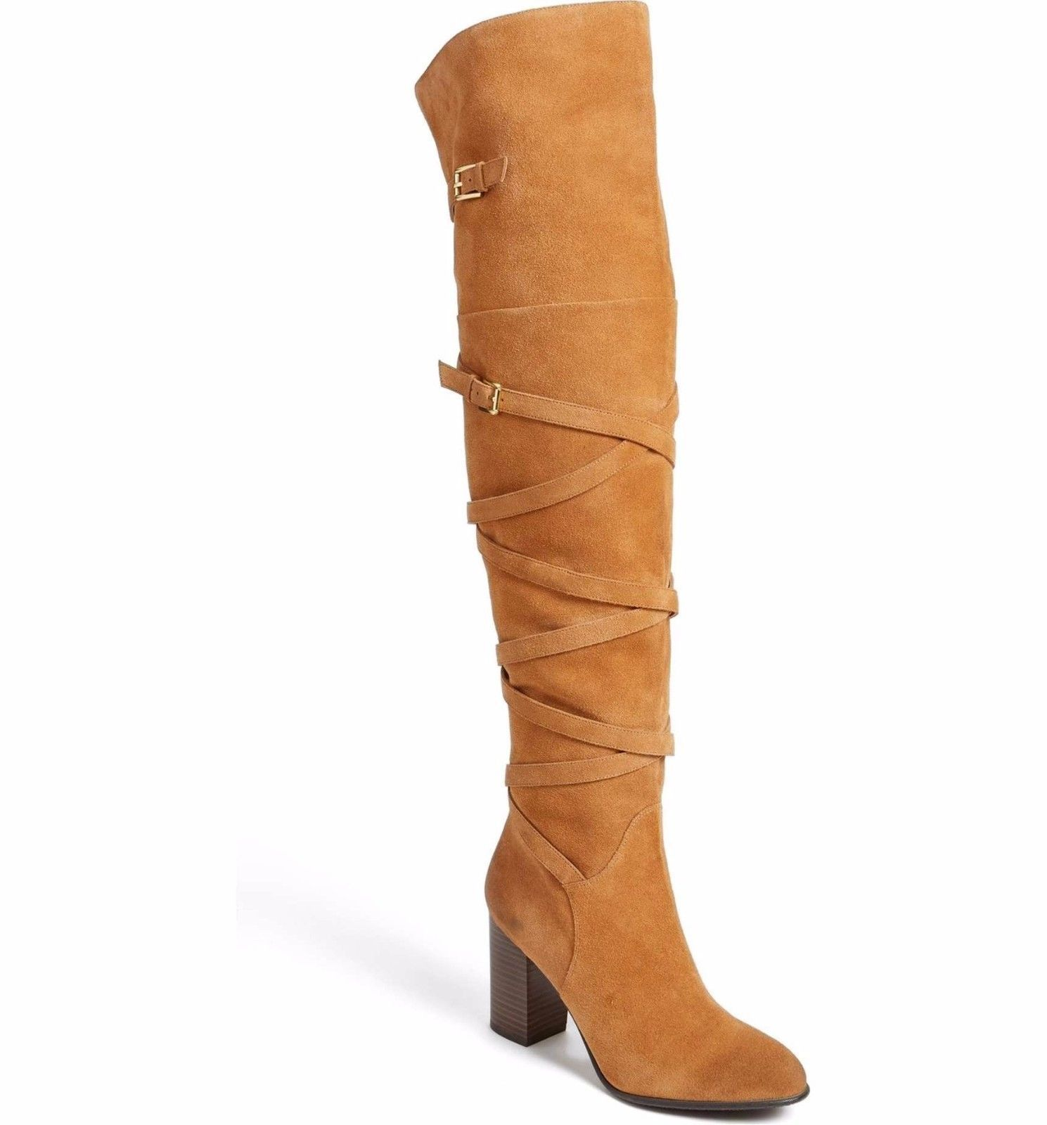 281786961dc3 S l1600. S l1600. Previous.  325 SAM EDELMAN Sable Tall Leather Suede  Buckle OTK Over The Knee Boots ...