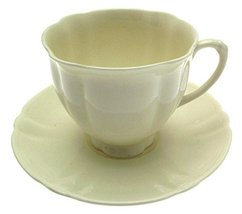 Creamware Royal Doulton Cup and Saucer - $31.84