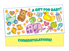 A Gift For Baby ~ Gift Card / Money Holder - $5.00