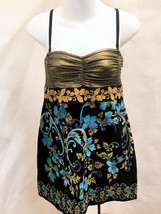 Free People M Dress Lost In Paradise Velvet Metallic Mini Removable Straps - $31.34