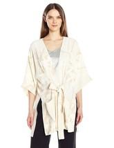 Halston Heritage Women's Printed Kimono Wrap Jacket with Multi Needle Sash - $158.94+