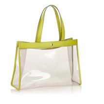 Pre-Loved Burberry Green Light Vinyl Plastic Tote Bag United Kingdom - $284.24