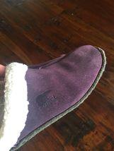 SOREL 9381 Womens Nakiska LILAC Purple Suede Clog Slippers Shoes 6 M #176 image 4