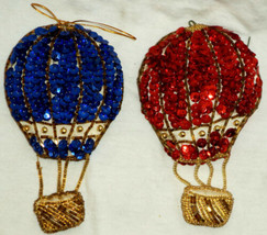 Christmas Ornament Balloon Sequins Padded - $10.48
