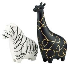 Kate Spade Woodland Park Zebra Giraffe Salt & Pepper Shaker Set New In Box - $109.90