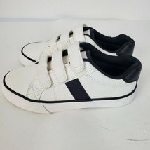 CHILDRENS PLACE Fashion Low Top Sneakers 3 Strap Boys Kids White Faux Le... - $25.72