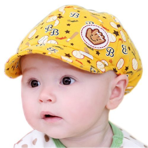 Baby Beret Toddler Sun Protection Hat Infant Floppy Cap Yellow Base Ball 3-15M