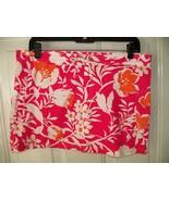 J.CREW Pink/Orange Floral Print Mini Skirt Size 6 Women's EUC - $20.25