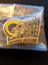 St Louis Rams 1995 Inaugural Season Pin Badge NFL American Football NIP - $8.90