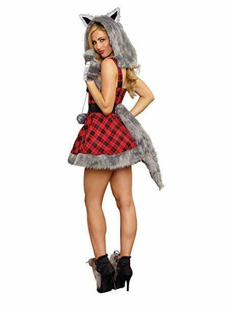 Dreamgirl Big Bad Wolf Furry Animals Sexy Adult Womens Halloween Costume 11182 image 3