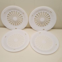 Plastic Paper Plate Holders Set of 4 White Patio Picnic BBQ Camping - €11,28 EUR