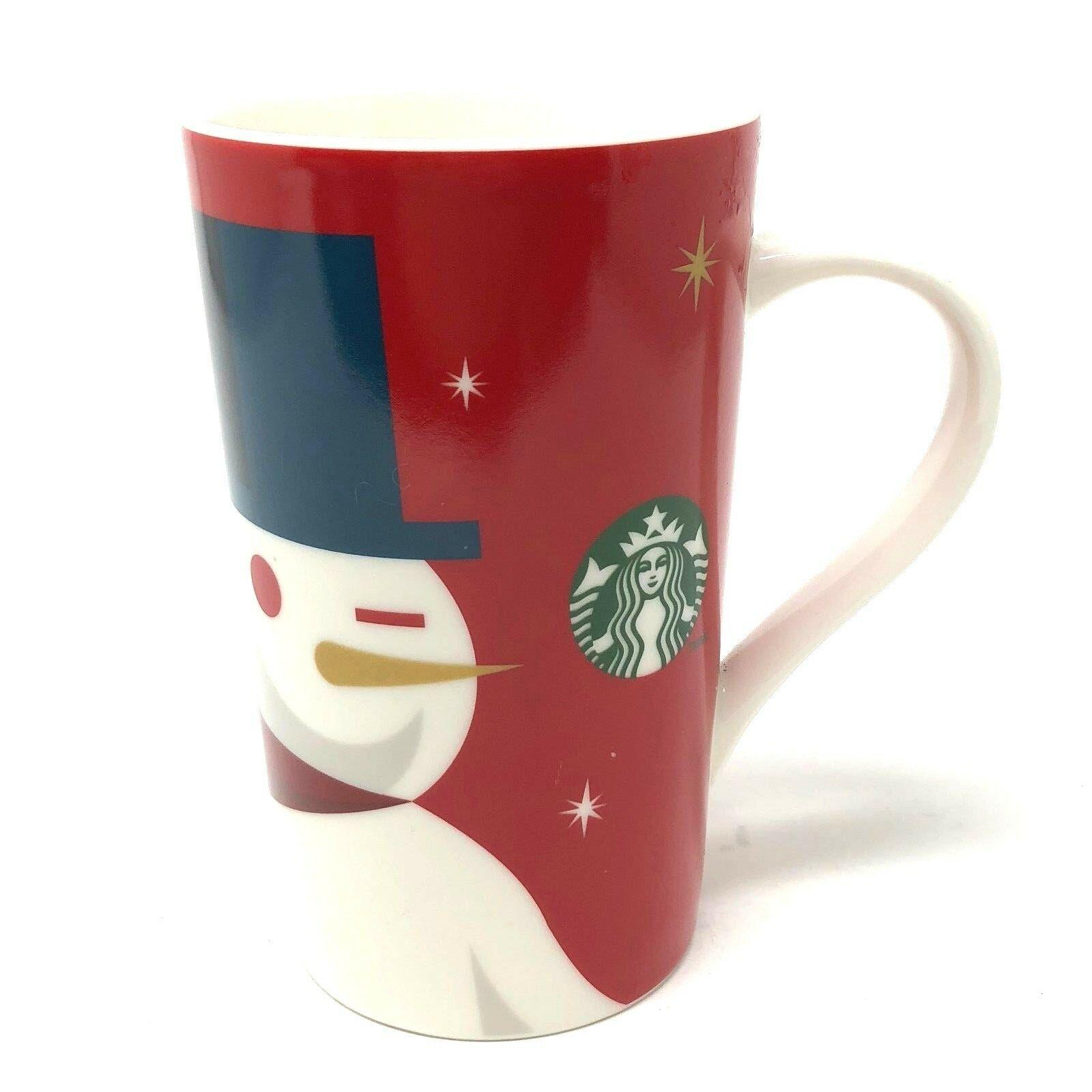Starbucks Mug 2012 Holiday Christmas Snowman Grande Coffee Cup 16 oz