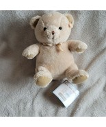 Carters Stuffed Plush Teddy Bear Cream Beige Ivory Tan faux-suede paw sa... - $79.19