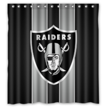 Oakland Riders 01 Shower Curtain Waterproof Polyester Fabric For Bathroom - $33.30+