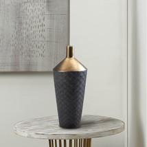 Lucca Black And Gold Porcelain Vase - $45.06