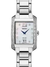 Seiko Solar Powered Diamonds Mother Of Pearl Dial Ladies Watch SUP399 (WARRANTY) - $294.03