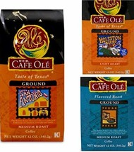 Cafe Ole GROUND Coffee Variety Pack San Antonio; Houston and Texas Pecan 12 oz.  - $197.97