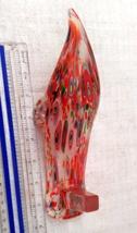Beautiful Multi-colored Art Glass Slipper / Shoe image 3