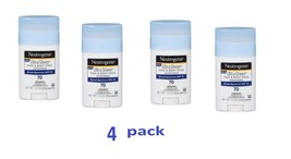 4pk- Neutrogena Sunscreen Ultra Sheer Face & Body Stick SPF 70 1.5oz UVA UVB  - $23.75
