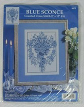 Design Works Blue Sconce Counted Cross Stitch Kit 9x12 #9972 - $19.79