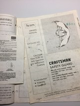 Vintage Sears Craftsman Owners Manual 2 Speed Sander Polisher And Safety... - $12.09