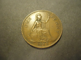 1945 English Large Penny >>Combined Shipping - $1.98