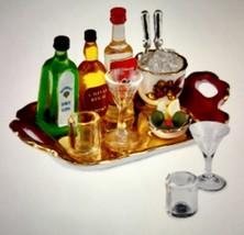 Dollhouse Miniatures Reutter Porzellan Top Shelf Liquor Tray Set #1.854/6 Bnib - $28.01