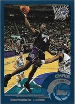 Chris Webber Topps 02-03 #90 Sacramento Kings Washington Wizards Detroit Pistons - $0.50